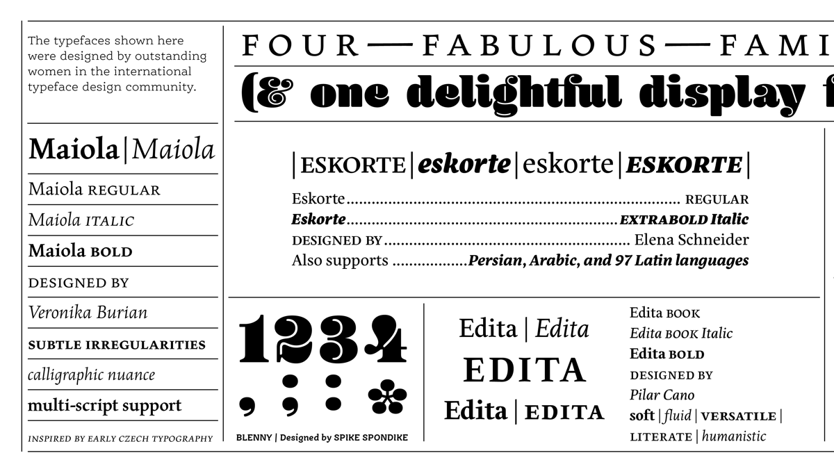 Browse fonts in the Fonts by Women font pack | Adobe Fonts