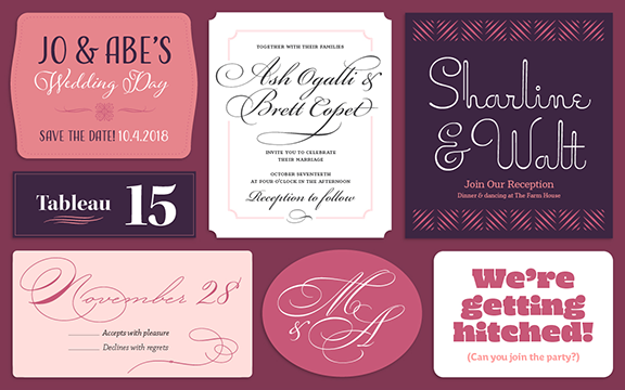 Browse fonts in the Wedding Charmers font pack | Adobe Fonts