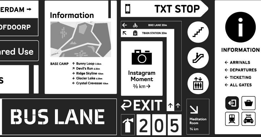 Download Browse fonts in the Wayfinding Font Pack font pack | Adobe ...