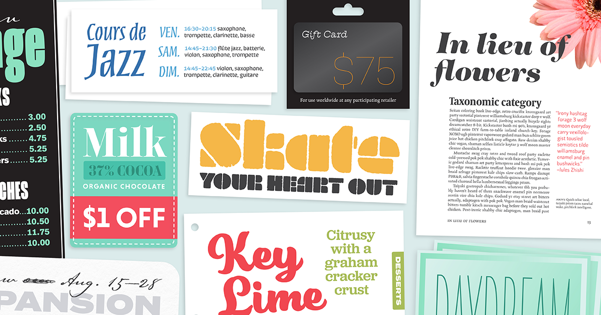 Download Browse fonts in the Variety Pack for Print font pack ...