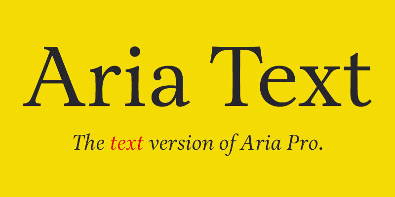 Arial aria Introduction to