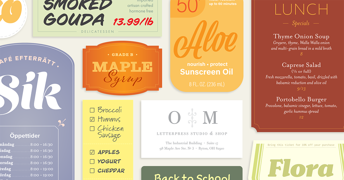 Download Browse fonts in the Typography Welcome Pack font pack ...