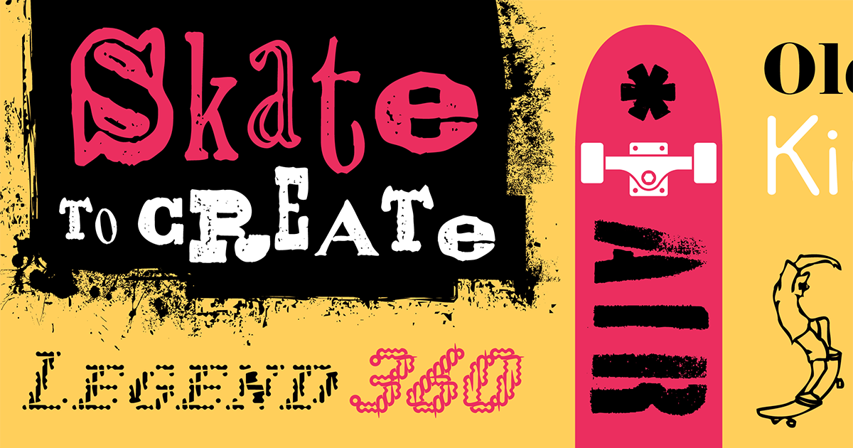 Download Browse fonts in the Fonts on a Half Pipe font pack | Adobe ...