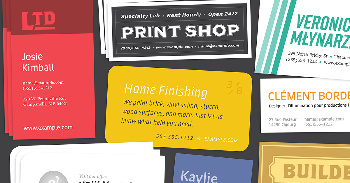 Download Browse fonts in the Business Card Pack font pack | Adobe ...