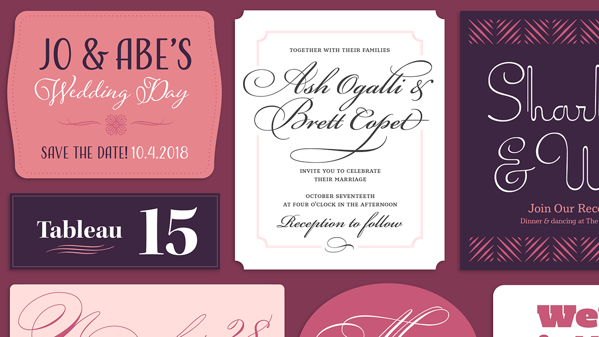 Browse fonts in the Wedding Charmers font pack | Adobe Fonts | Adobe