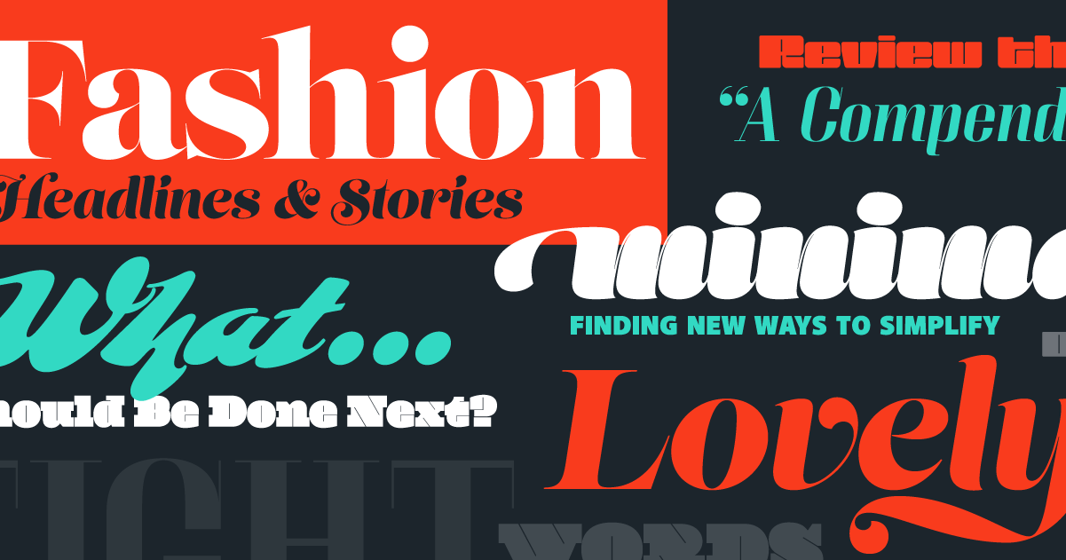 Download Browse fonts in the High Contrast Pack font pack | Adobe ...
